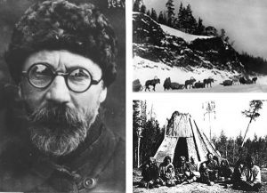 Леонид Кулик и фото команды по поиску метеорита