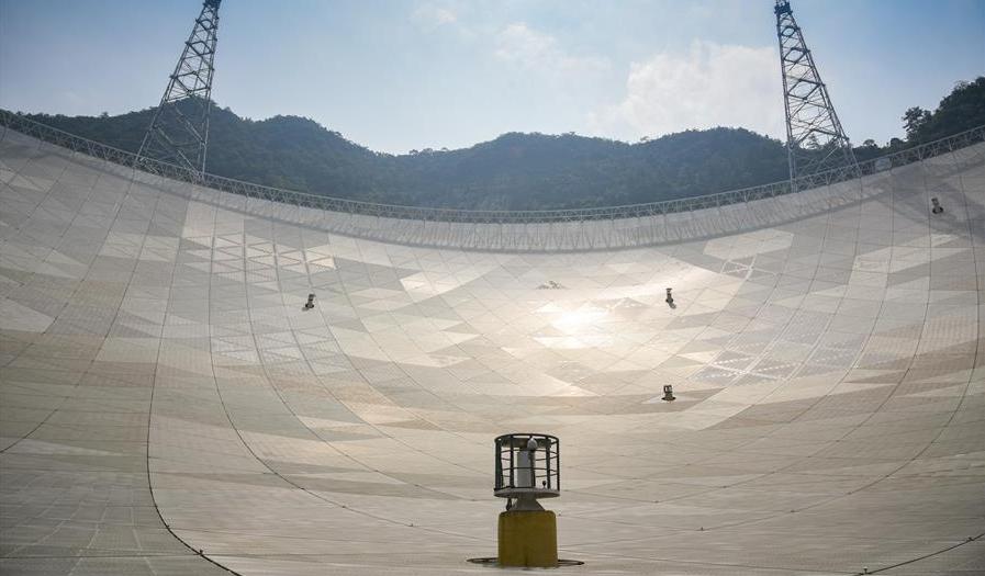 Пластины радиотелескопа FAST