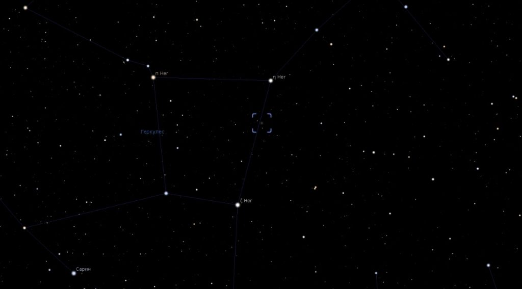 Скриншот из программы-планетария