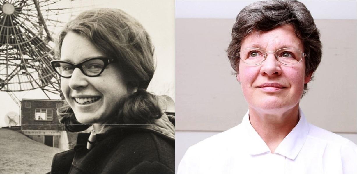 Фото Джоселин Белл 1967 года и 2011 года