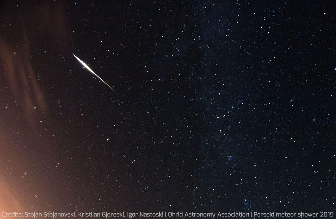 Метеор из метеорного потока Персеиды