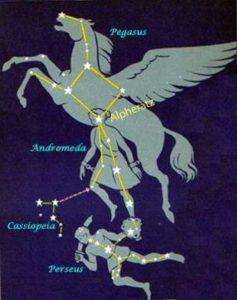 Альферат - голова Андромеды и пуп Пегаса