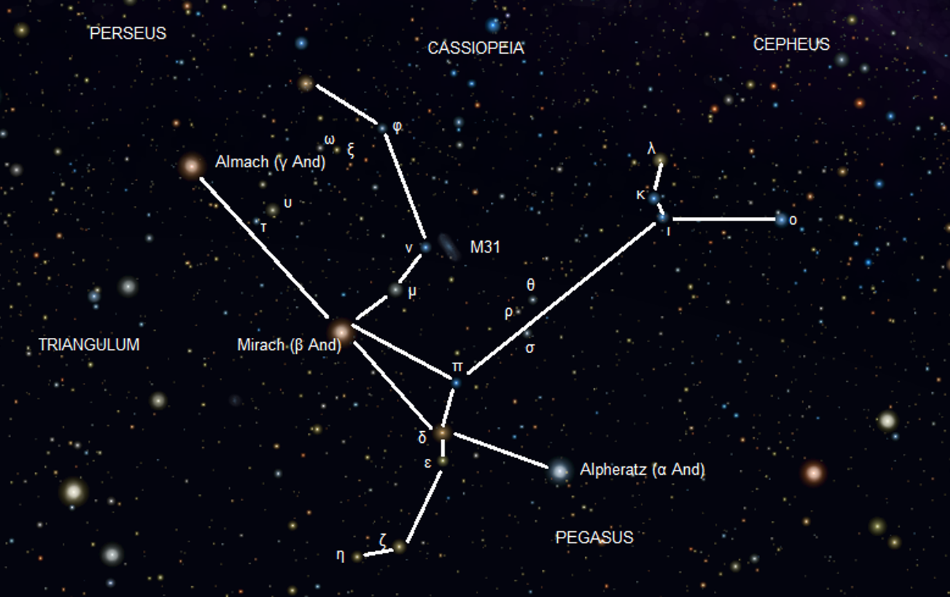 Альферат в созвездии Андромеды
