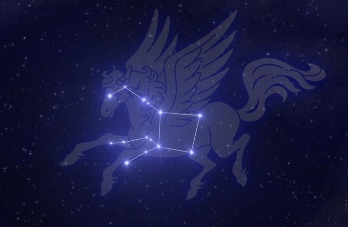 Созвездии Пегаса в исполнении художника