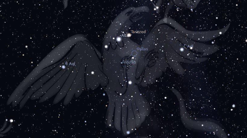 Таразед в созвездии Орла