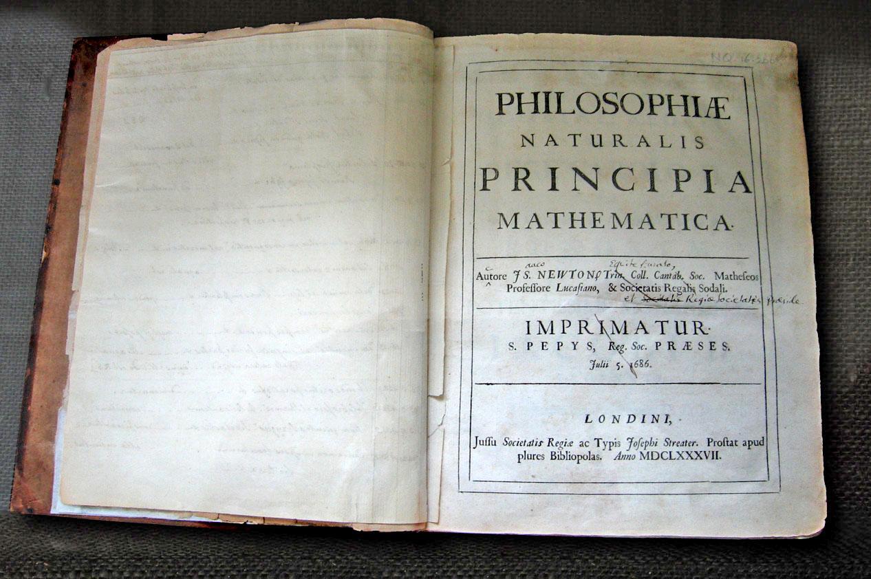 «Математические начала натуральной философии» Исаака Ньютона