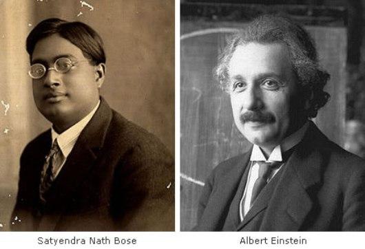 Ученые Сатьендра Нат Бозе и Альберт Эйнштейн