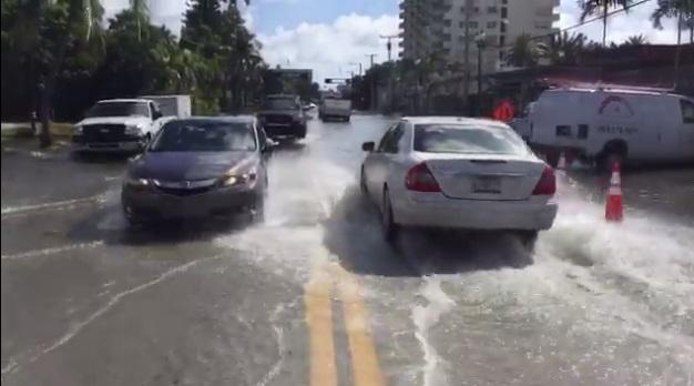 Майами, после усиленных приливов