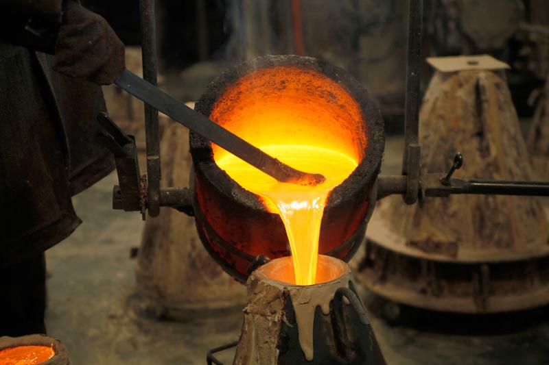 Расплав металла