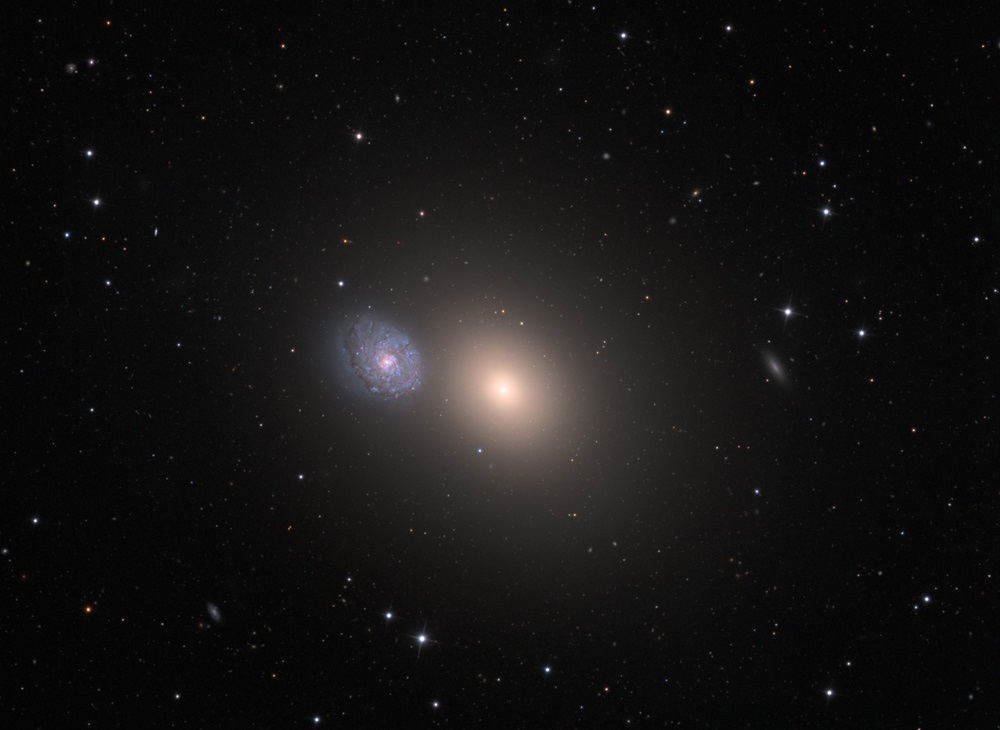 Галактики M60 и NGC 4647