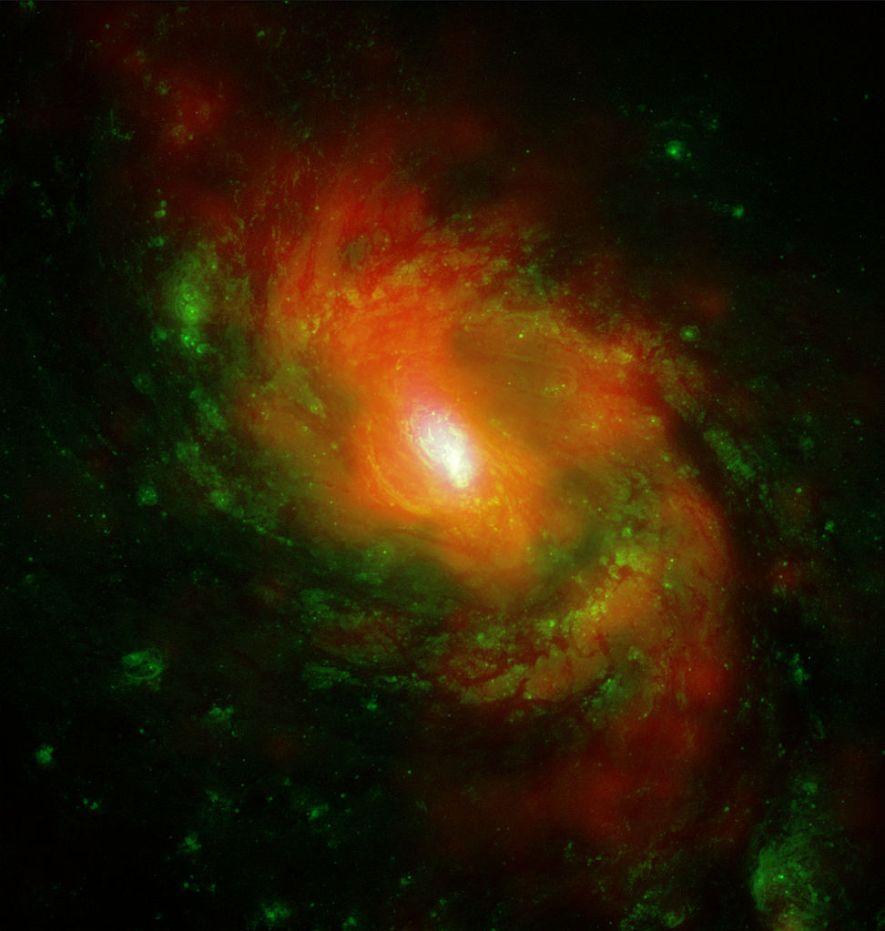 Спиральная галактика M77 в рентгеновском диапазоне