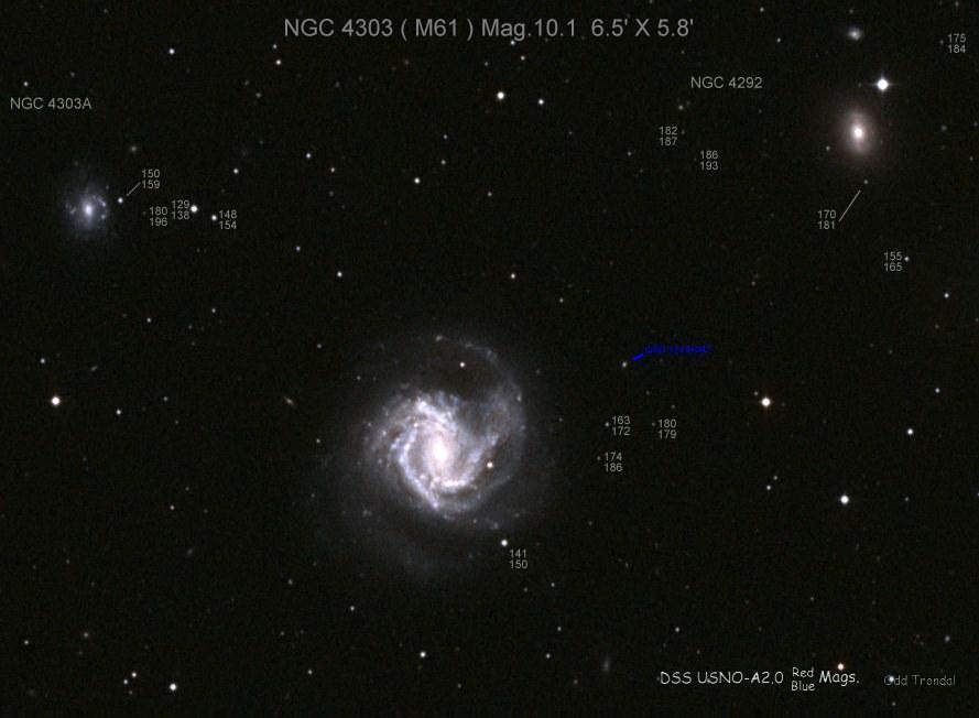Галактика Мессье 61 и ее соседи