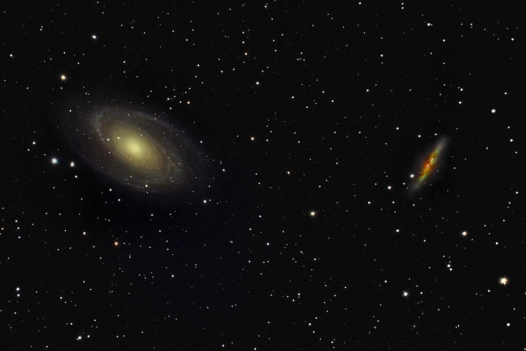 M 81 (слева) и M 82 (справа).