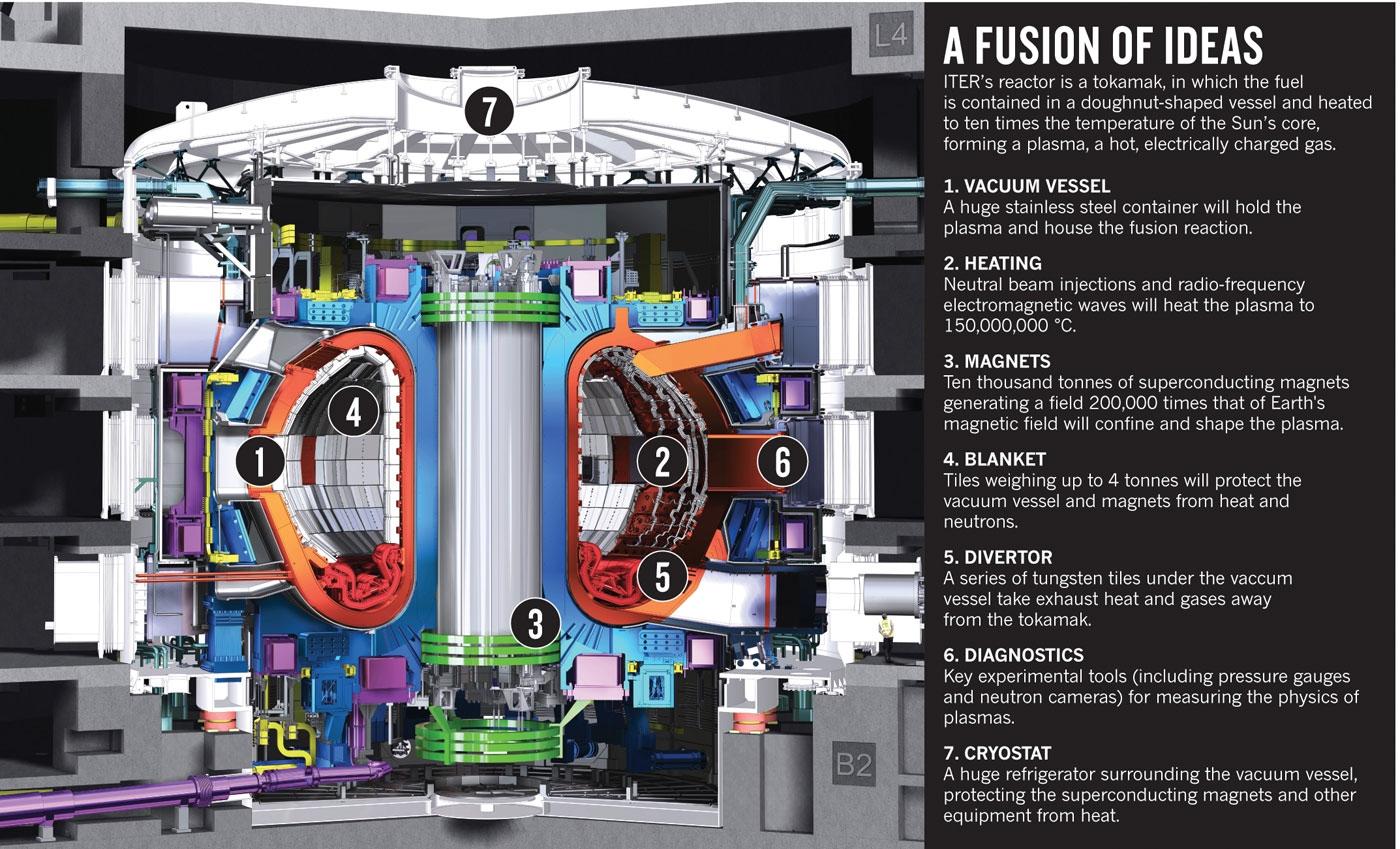 Основные элементы конструкции токамака