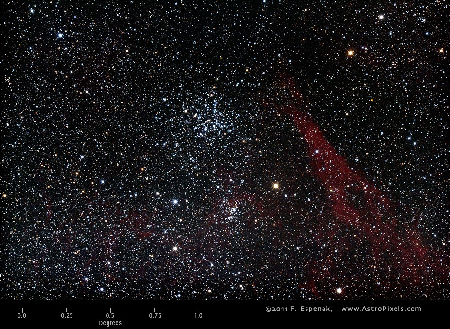 Скопление M38 в масштабах градуса