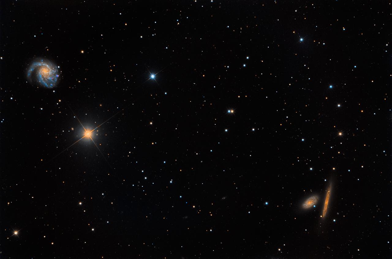 Галактика Мессье 99 и ее соседи