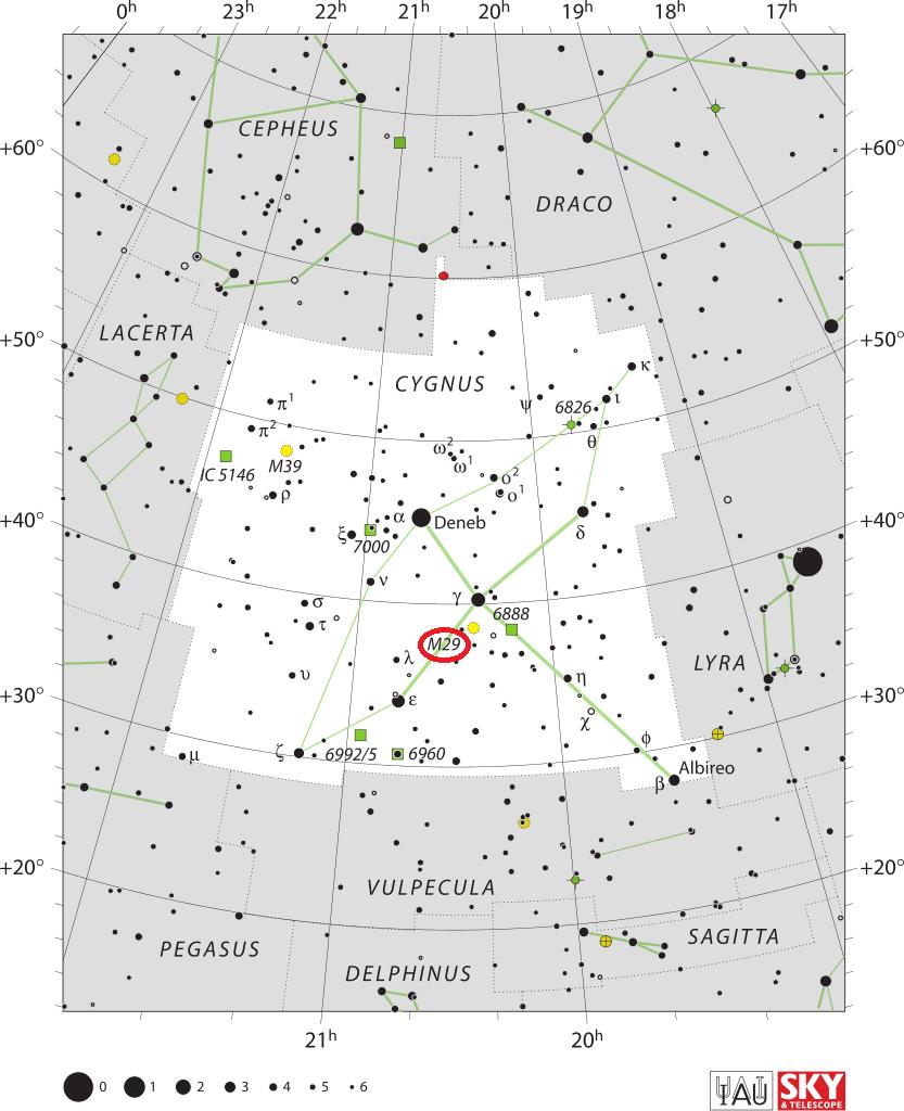 Рассеянное скопление Мессье 29