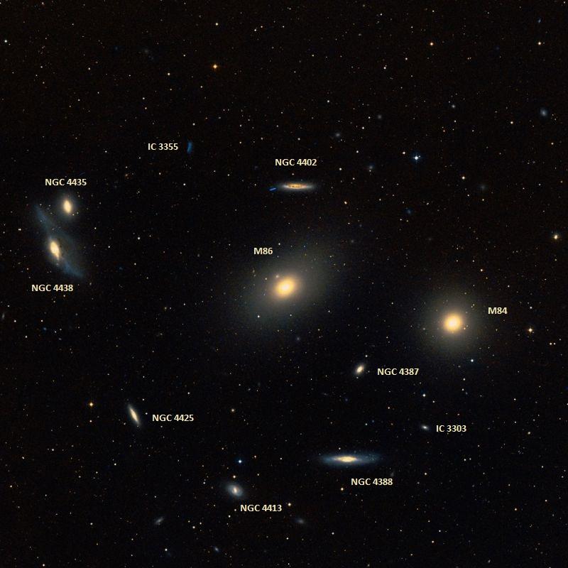 Галактика M84 и ее соседи