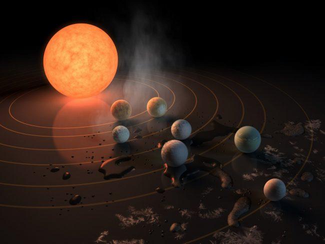 Посредством звездного ветра TRAPPIST-1 может буквально сдувать атмосферу ближайших планет