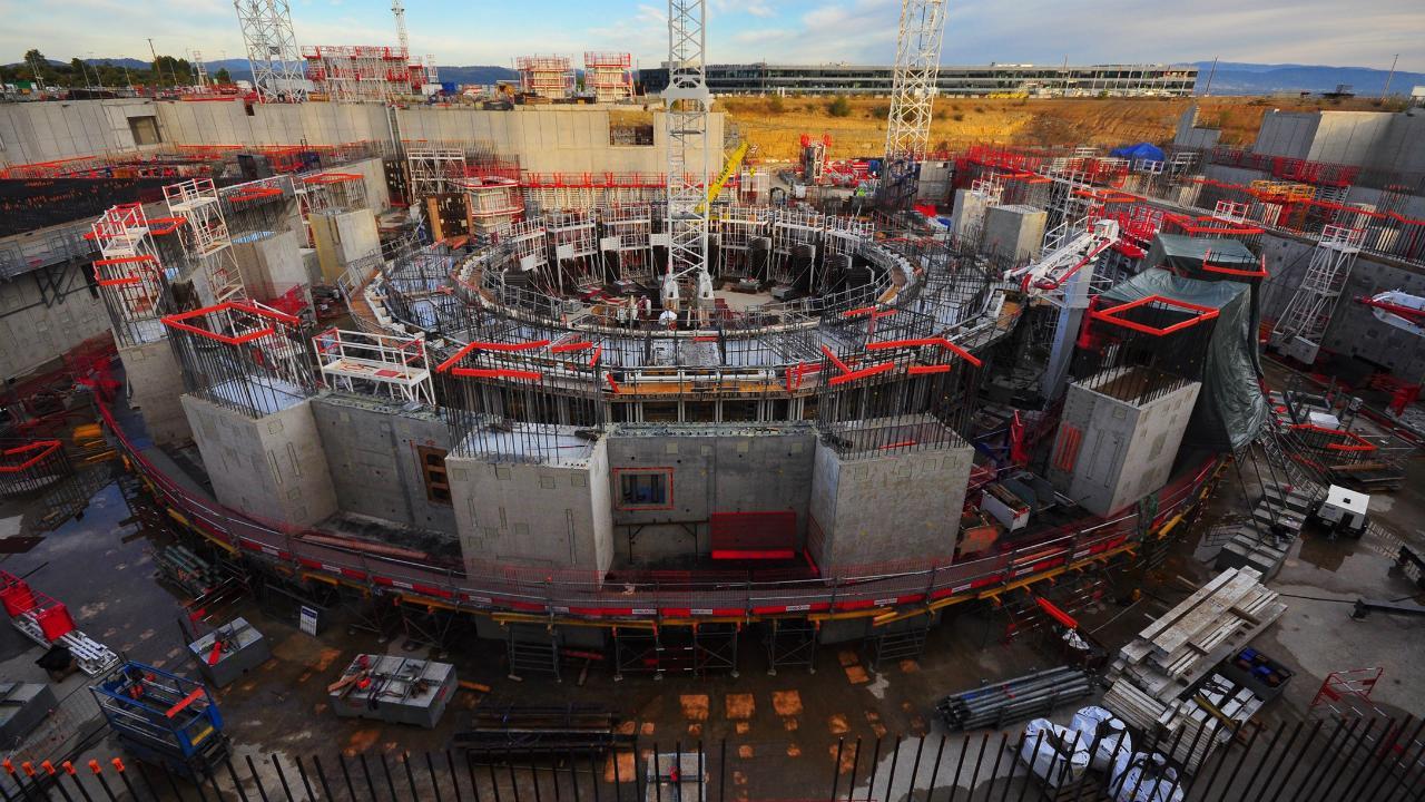 Строительство ИТЭР в 2016 году