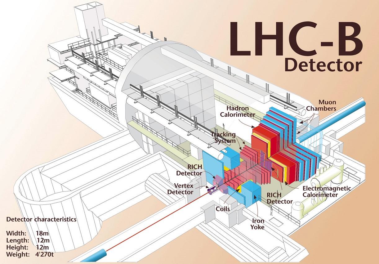 Схема детектора LHCb и его основные компоненты