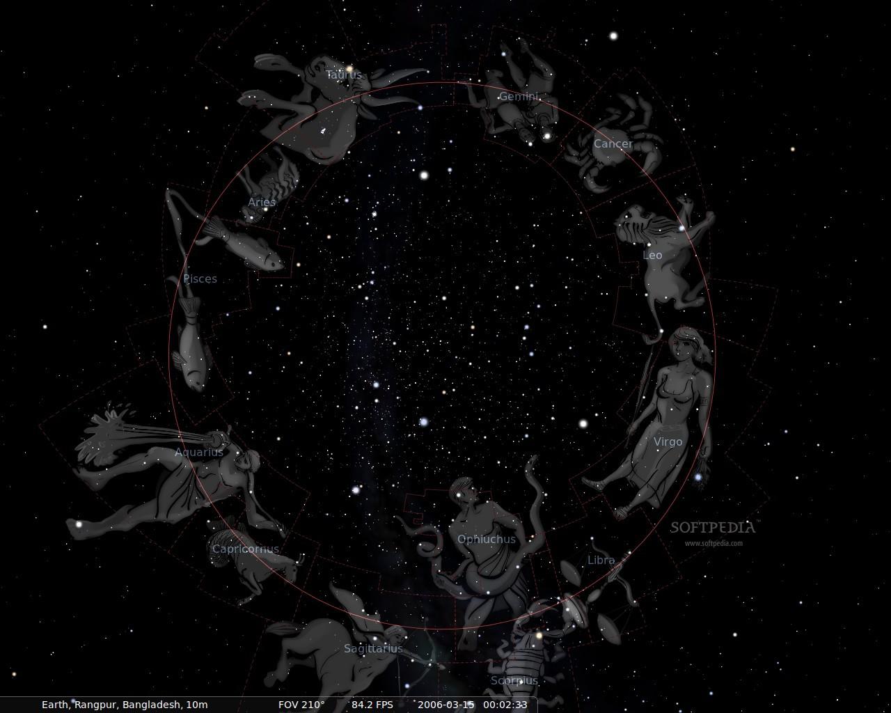 Иллюстрации созвездий в программе Stellarium