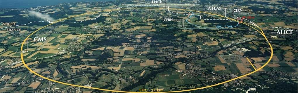 Большой адронный коллайдер под землей комплекса ЦЕРНа