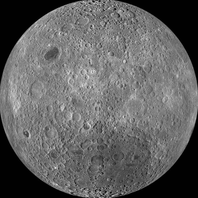 Карта обратной стороны Луны