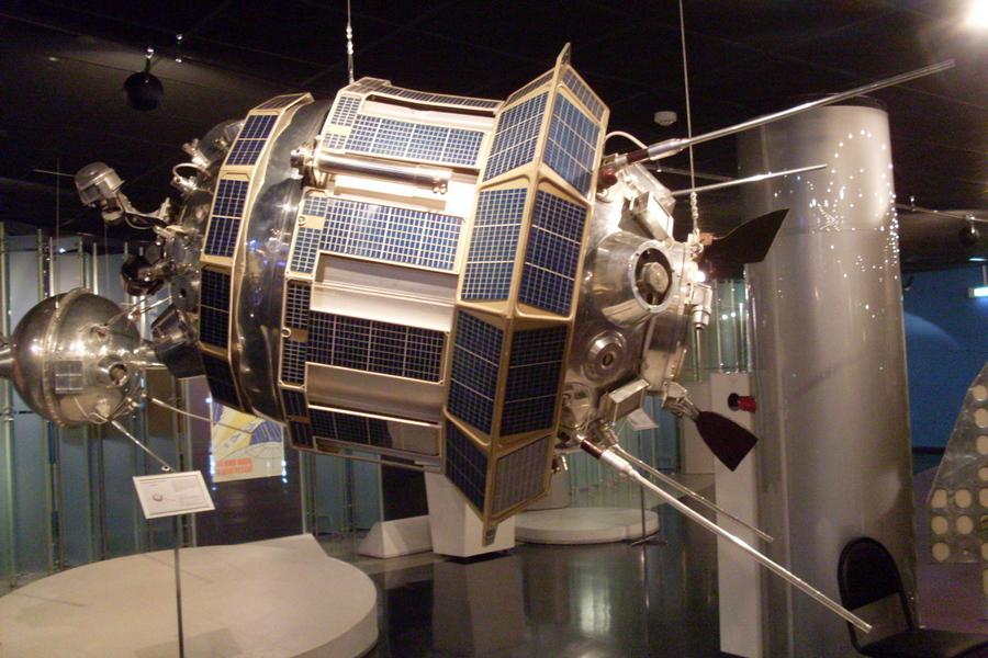 Макет станции из музея космонавтики в Москве