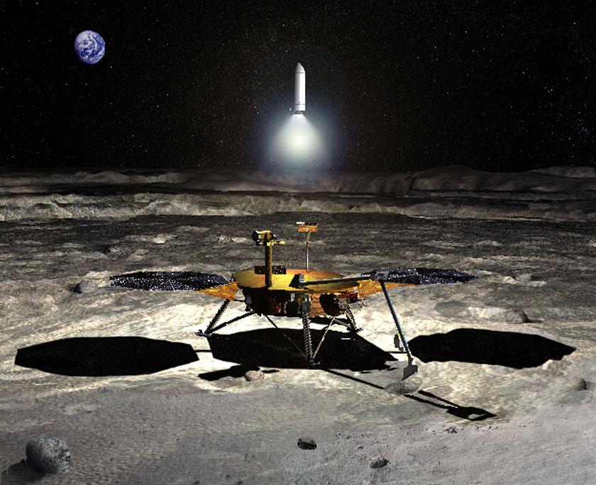 Миссия NASA по возврату образцов в представлении художника
