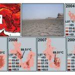 Максимальная поверхностная температура в иранской пустыне
