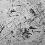Снимок повреждений правой пусковой площадки от взрыва и пожара после второго пуска Н1