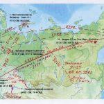 Трасы полетов советских баллистических ракет в конце 50х годов 20 века