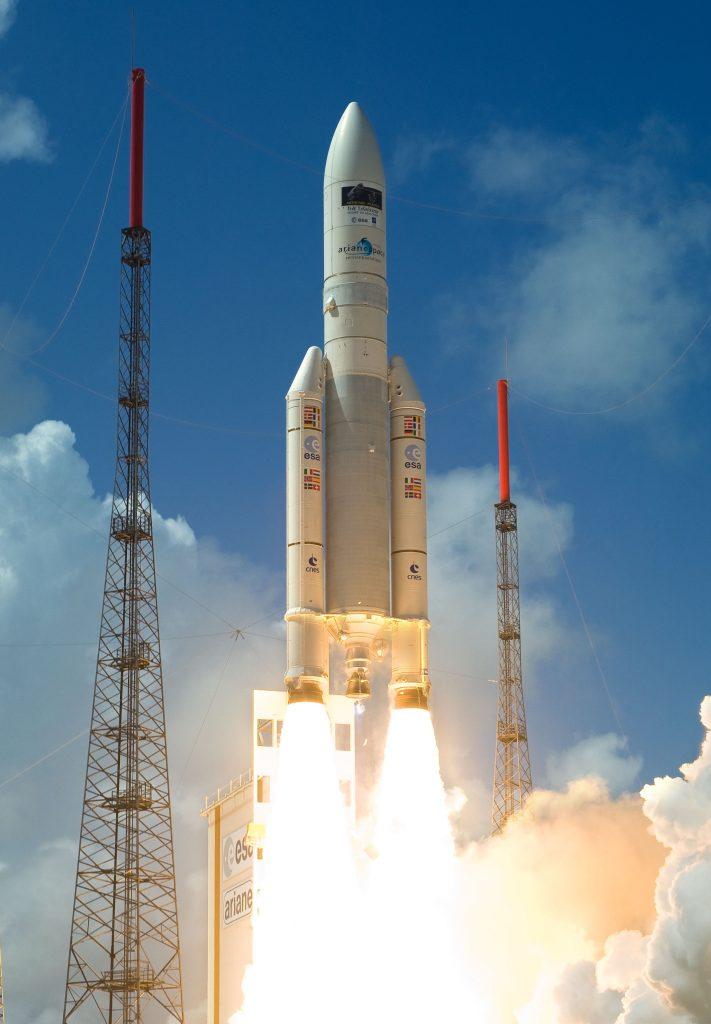 Запуск ракеты из Куру