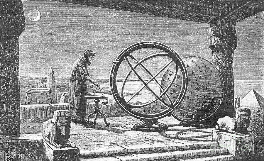 Гиппарх в своей обсерватории в Александрии