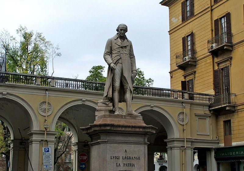 Памятник Лагранжу в Турине