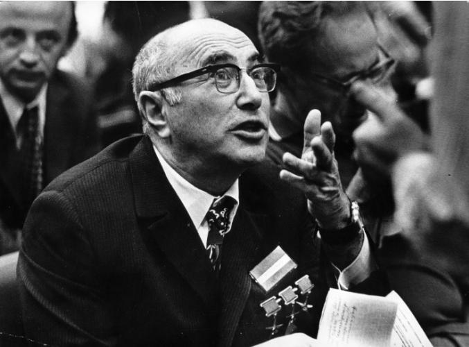 Яков Борисович Зельдович на конференции в 80-х