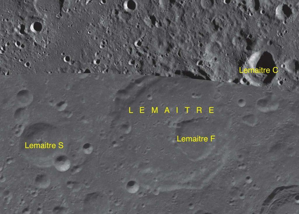 Кратер Леметр на видимой стороне Луны