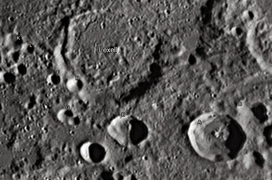 Лунный кратер Лексель