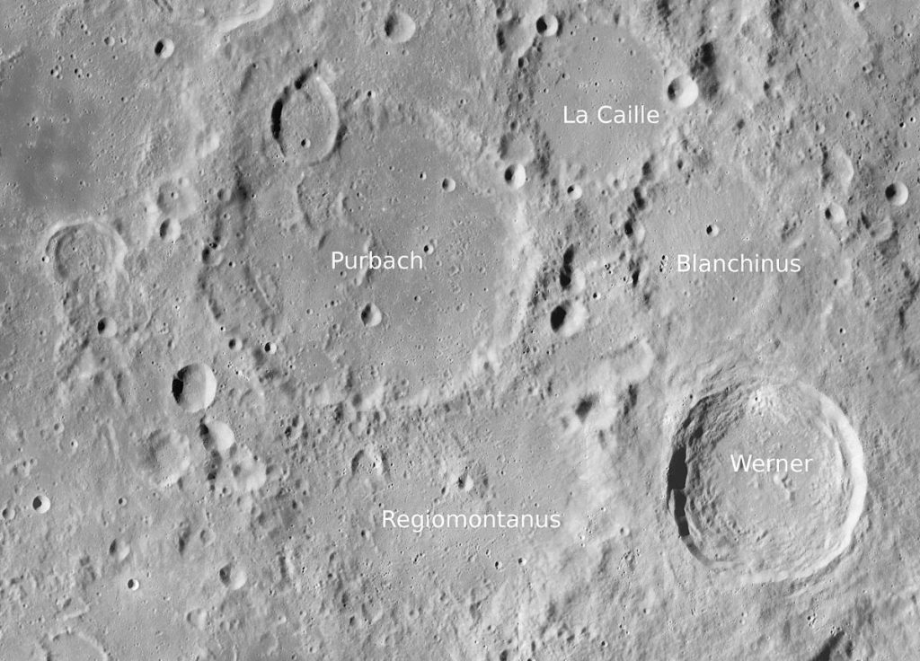 Окрестности кратера Лакайль