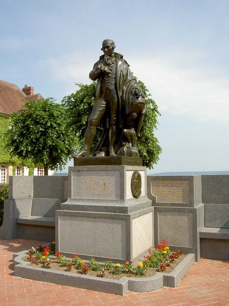 Памятник Лапласу в Бомон-ан-Ож