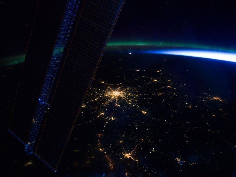 Пример снимка NASA, сделанного на борту Международной космической станции (МКС)