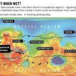 По наблюдениям орбитальных спутников эти полосы появились в теплое время марсианского года, и исчезали в холодное время. Эти полосы были обнаружены лишь вблизи экваториальных областей красной планеты