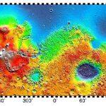 Четыре огромных щитовых вулкана на Марсе, размером с Маун Кеа или даже больше. Крупнейший из них называется Олимп, остальные три: Аскрийская гора, гора Павлина и гора Арсия.