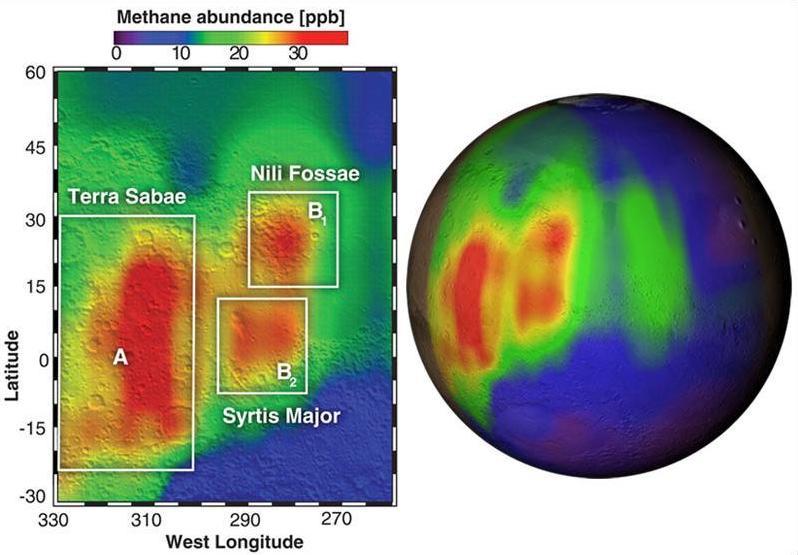 Рекордная концентрация метана в 2003 году по измерениям наземного гавайского телескопа IRTF
