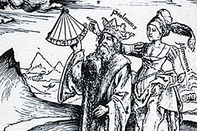 Птолемей и муза Астрономия