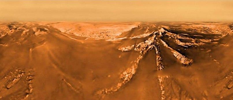 Вот что передал спускаемый аппарат Гюйгенс когда опускался на Титан