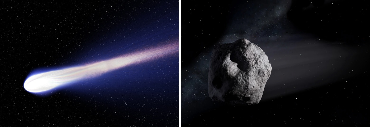 Отличие между кометами и астероидами